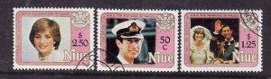 Niue-Sc#354-6- id6-used set-Princess Diuana-21st Birthday-1982-