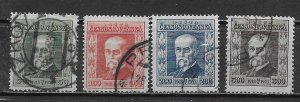 Czechoslovakia B133-36 Masaryk set Used (z2)