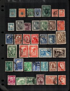 Peru  40 diff Used and mint  hinged