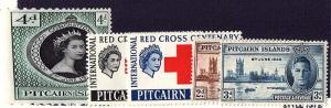 PITCAIRN IS 1946-53 3 sets Cmplt mh fvf  scv $16.30 less 50%=$8.15 Buy it Now