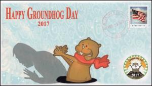 17-001, 2017, Groundhog Day, Local Postmark, Event Cover