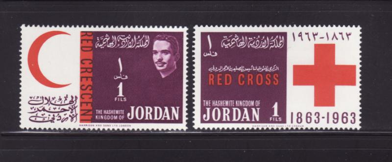 Jordan 407, 413 MH Red Crescent, Red Cross, King Hussein