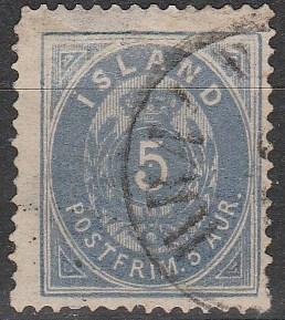 Iceland #9 F-VF Used CV $1200.00 (D2106)