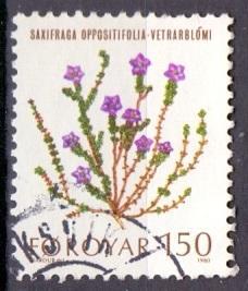 Faroe Islands 1980 used flowers  150ore   #