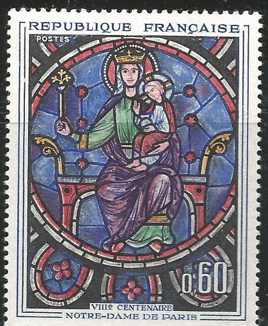 FRANCE 1090, MNH, MADONNA & CHILD, FROM WINDOW OF NOTRE DAME