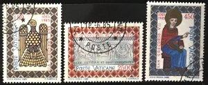 Vatican #758-760 U CV$4 St. Gregory VII/Byzantine Eagle/Basilica [120925]