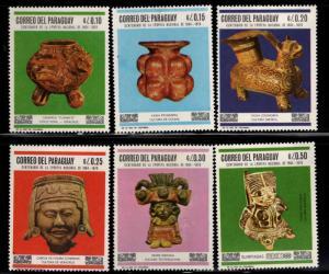 Paraguay Scott 1060-1065 MNH** regular mail set