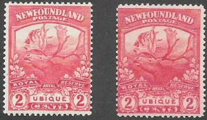 Newfoundland Scott Number 116 + 116b F H