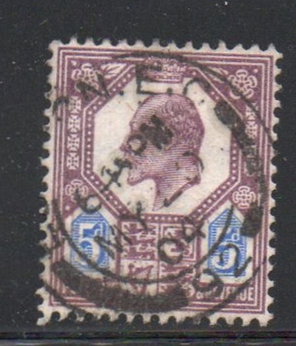 Great Britain Sc 134 1904 5d dull purple & blue Edward VII stamp used