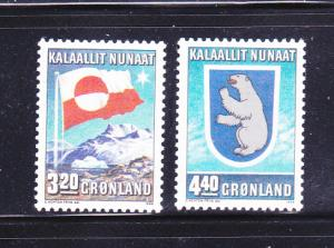 Greenland 200-201 Set MNH Flag And Coat Of Arms