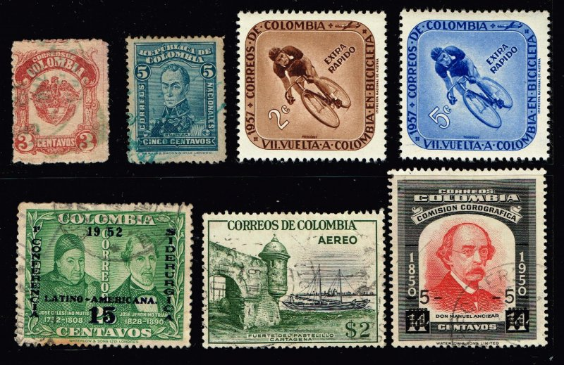COLUMBIA STAMP USED STAMP COLLECTION LOT #5