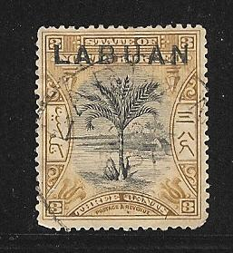 Labuan  used Scott cat.# 75 CDS PERF 15 SG 91b