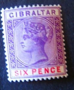Gibraltar #19 Mint Hinged- (AZ6) WDWPhilatelic! 2