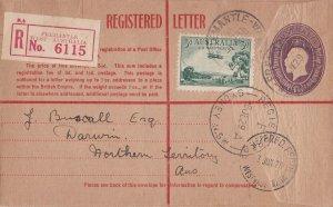APS152) Australia 1929 use of 4½d Violet Oval Reg'd envelope, ACSC RE21.