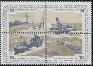 Chile, Sc 460 (2), MNH, 1975, Volunteer Lifeboat Service