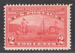US Stamp #372 2c Carmine Half Moon Clermont MINT HINGED SCV $10.00