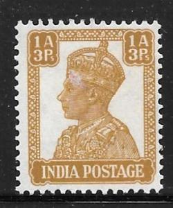 India 172: 1a3p George VI, MH, F-VF