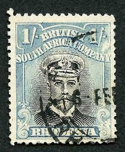 Rhodesia Admiral 1/- Perf 14 used