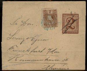 Guatemala 1898 To Frankfurt Germany Cover 92807