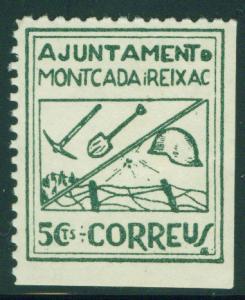 SPAIN Civil War Republic Montcada Reixac lablel GG902