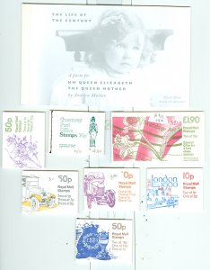 GREAT BRITAIN & OTHERS LOT of 8 CPLT BOOKLETS..EST.$60.00