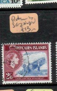 PITCAIRN ISLANDS  (PP2106B)  QEII  2/6  BOAT  SG 28   VFU