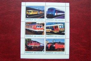 Angola 2000 MNH Trains Locomotives #5