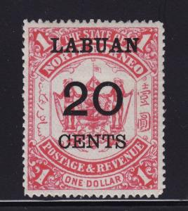 Labuan Scott # 60 VF OG mint previously hinged nice color cv $ 50 ! see pic !