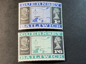 GUERNSEY # 28-29-MINT NEVER/HINGED--COMPLETE SET--1969-70