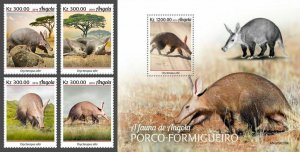 Z08 IMPERF ANG190209ab Angola 2019 Aardvark MNH ** Postfrisch