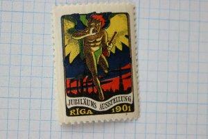 RIGA 1901 poster stamp Jubilee fair exposition jubiläums Latvia