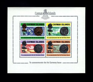 CAYMAN IS - 1973 - FIRST COINS & BANK NOTES - COINAGE - MINT - MNH S/SHEET