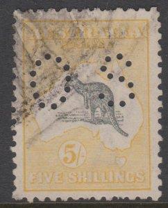 Australia Sc#54 Used - Perfin Small OS