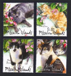 Pitcairn Cats 4v SG#618-621 SC#557-560