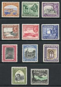 Cyprus SG133/43 1934 Set of 11 m/mint