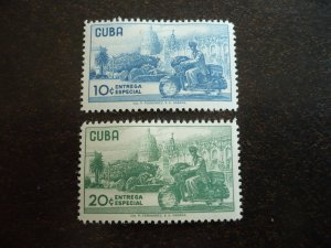 Stamps - Cuba - Scott# E24-E25 - Mint Hinged Set of 2 Stamps