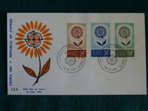 Cyprus 1964 Europa set Unofficial FDC.