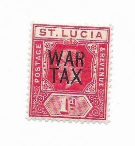 St. Lucia #MR1 MH - Stamp - CAT VALUE $13.00