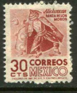 MEXICO 861, 30c 1950 Definitive 1st ISSUE wmk 279 MINT, NH. VF