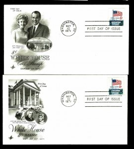 US #1338F&G Flag Over White House First Day Covers - Courtesy Listing (ESP#032)