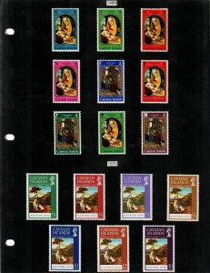 Cayman Islands Selection of 58 Stamps MH/MNH (SCV $44.35) Starting at 5%