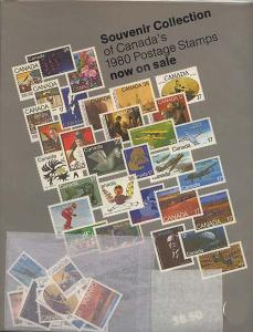 1980 Annual Souvenir Collection Stamps of Canada Unopened as orginally sold.
