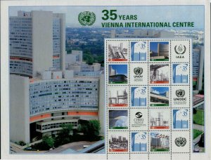 HERRICKSTAMP NEW ISSUES UNITED NATIONS Vienna Int'l Center Sheetlet of 10