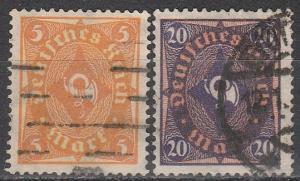 Germany #180, 182  F-VF Used  CV $5.00 (S1534)