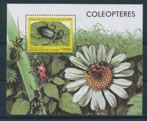 Guinea MNH S/S Beetles & Flower 1998