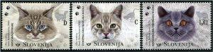 HERRICKSTAMP NEW ISSUES SLOVENIA Fauna 2020, Cats
