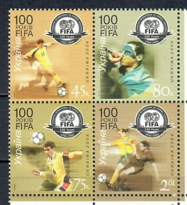 Ukraine 2004 The 100th Anniversary of FIFA  (MNH)  - Sport, Football