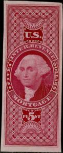 #R91TC3 $5 MORTGAGE TRIAL COLOR PLATE PROOF ON INDIA PAPER VF-XF CV $90 BQ979