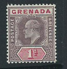 Grenada SG 68 MH perf 14 light horizontal bend