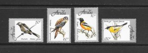 BIRDS ARUBA #162-5  MNH